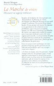 Marche De Vision (La) N.218 - 4ème de couverture - Format classique