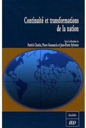 Vente livre :  Continuite Et Transformations De La Nation  - Collectif