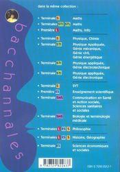 Bacchannales Sms ; Mathématiques/Physique-Chimie ; Sujets Du Bac Corrigés Et Commentés - 4ème de couverture - Format classique