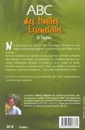 Abc Des Huiles Essentielles - 4ème de couverture - Format classique