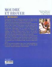 Moudre Et Broyer T.1 ; Methodes - 4ème de couverture - Format classique