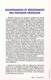 Souffrances et résistances des paysans français - 4ème de couverture - Format classique