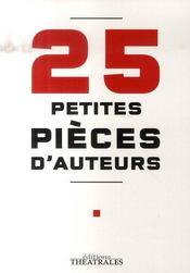 25 petites pièces d'auteurs - Intérieur - Format classique