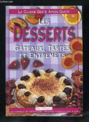 Les desserts - Couverture - Format classique