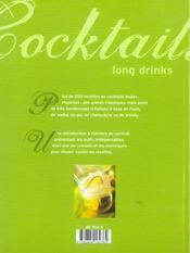 Cocktails Long Drinks - 4ème de couverture - Format classique