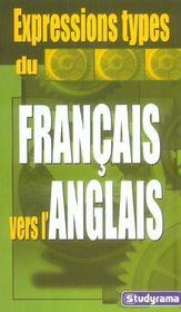 Expressions types du francais vers l'anglais - Intérieur - Format classique