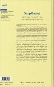 Oeuvres Completes T.21 - 4ème de couverture - Format classique