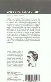 Max Havelaar - 4ème de couverture - Format classique