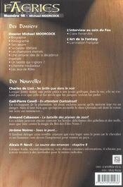 Faeries 14 Special Michael Moorcock - 4ème de couverture - Format classique