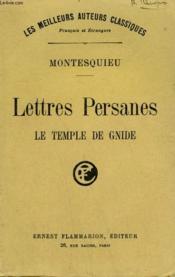Lettres Persanes. Le Temple De Gnide. - Couverture - Format classique