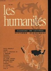 Les Humanites N°366 - Classes De Lettres - Sections Classiques - Couverture - Format classique