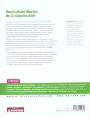 Vocabulaire illustre de la construction ; francais-anglais ; anglais-francais - 4ème de couverture - Format classique