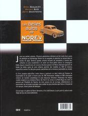 Les Belles Autos De Norev - 4ème de couverture - Format classique