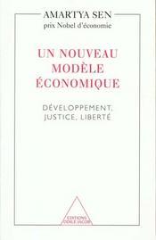 Le Developpement Et La Liberte ; Un Nouveau Modele Economique - Intérieur - Format classique
