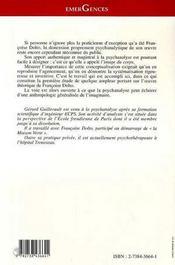 Le Corps Psychique ; Essai Sur L'Image Du Corps Selon Francoise Dolto - 4ème de couverture - Format classique