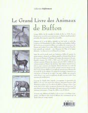 Le Grand Livre Des Animaux De Buffon - 4ème de couverture - Format classique