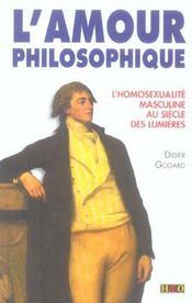 L'amour philosophique , l'homosexualite masculine au siecle des lumieres - Intérieur - Format classique