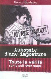 Affaire ranucci ; autopsie d'une imposture - Intérieur - Format classique