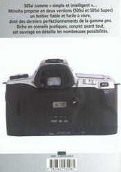 Minolta 505si et 505si super - 4ème de couverture - Format classique