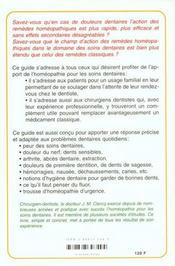 Guide Pratique D'Homeopathie Dentaire - 4ème de couverture - Format classique