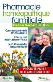 Pharmacie homéopathique familiale - Couverture - Format classique