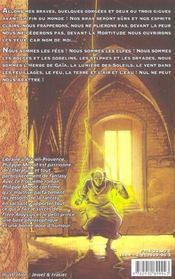 Sardequins 2 guerre et fees - 4ème de couverture - Format classique