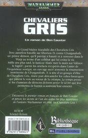 Chevalier gris - 4ème de couverture - Format classique