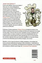 Vive Les Echecs ! - 4ème de couverture - Format classique