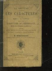 La Bruyere - Les Caracteres Ou Les Moeurs De Ce Siecle - Couverture - Format classique