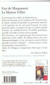La Maison Tellier / Une Partie De Campagne Et Autres Nouvelles - 4ème de couverture - Format classique
