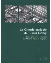 Format T.50 ; La Chimie Agricole De Justus Liebig - Couverture - Format classique