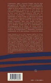 Fiscalité et politique ; les redevances coutumières au tchad, 1900-1956 - 4ème de couverture - Format classique