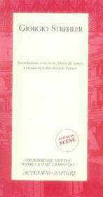 Giorgio strehler - Couverture - Format classique