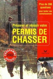 Permis De Chasser ; Edition 2002 - Intérieur - Format classique