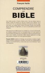 Comprendre La Bible (2e Edition) - 4ème de couverture - Format classique