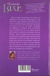 Gouts De Luxe - 4ème de couverture - Format classique