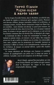Pique Nique A Maree Basse - 4ème de couverture - Format classique