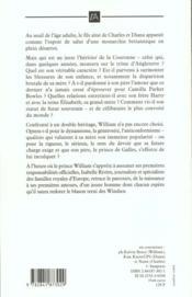 William d'Angleterre ; les defis d'un heritier - 4ème de couverture - Format classique