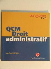 Qcm Droit Administratif - Intérieur - Format classique