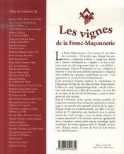 Les Vignes De La Franc-Maconnerie - 4ème de couverture - Format classique