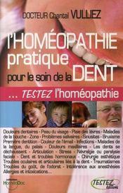 L'homéopathie pratique pour le soin de la dent - Intérieur - Format classique