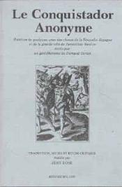 Conquistador Anonyme (Le) - Couverture - Format classique