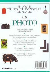La photo - 4ème de couverture - Format classique