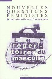 Revue Nouvelles Questions Feministes T.21/3 - Intérieur - Format classique