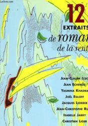 12 Extrait De Romans De La Rentree - Couverture - Format classique