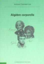 Algebre Corporelle - Couverture - Format classique