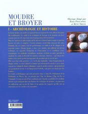 Moudre Et Broyer T.2 ; Archeologie Et Histoire - 4ème de couverture - Format classique