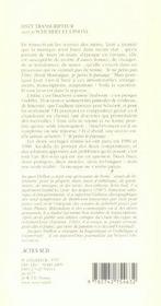 Liszt Transcripteur ; Schubert Et L'Infini - 4ème de couverture - Format classique