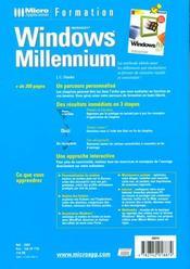 Formation windows millenium - 4ème de couverture - Format classique