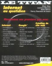 Internet au quotidien (2e edition) - 4ème de couverture - Format classique
